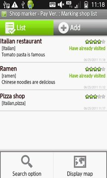My Restaurant List