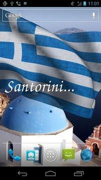 3D希腊国旗LWP