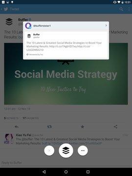 缓冲区(推特,脸书) Buffer (Twitter, Facebook)
