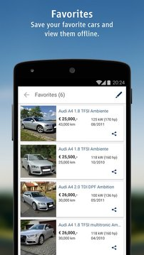 AutoScout24: mobile Auto Suche