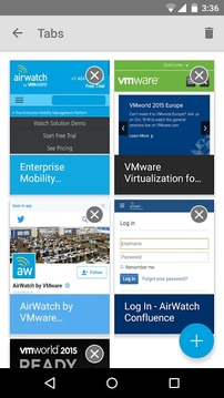 AirWatch Secure Browser