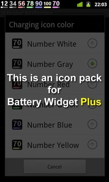 Battery Widget Icon Pack 4