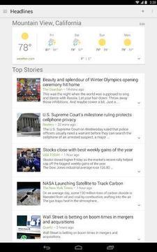谷歌新闻和天气