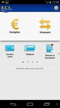 Mes Comptes - LCL pour mobile