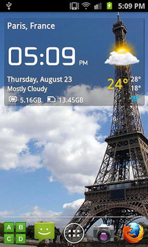 透明时钟和天气… Transparent clock & weathe...