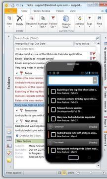 Outlook Synced Task - USB Sync