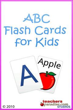 少儿单词学习卡片