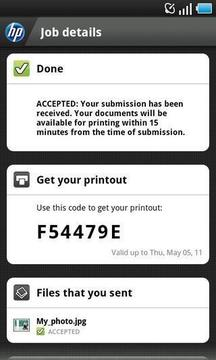 HP ePrint service