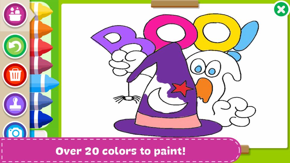 万圣节着色和绘画书