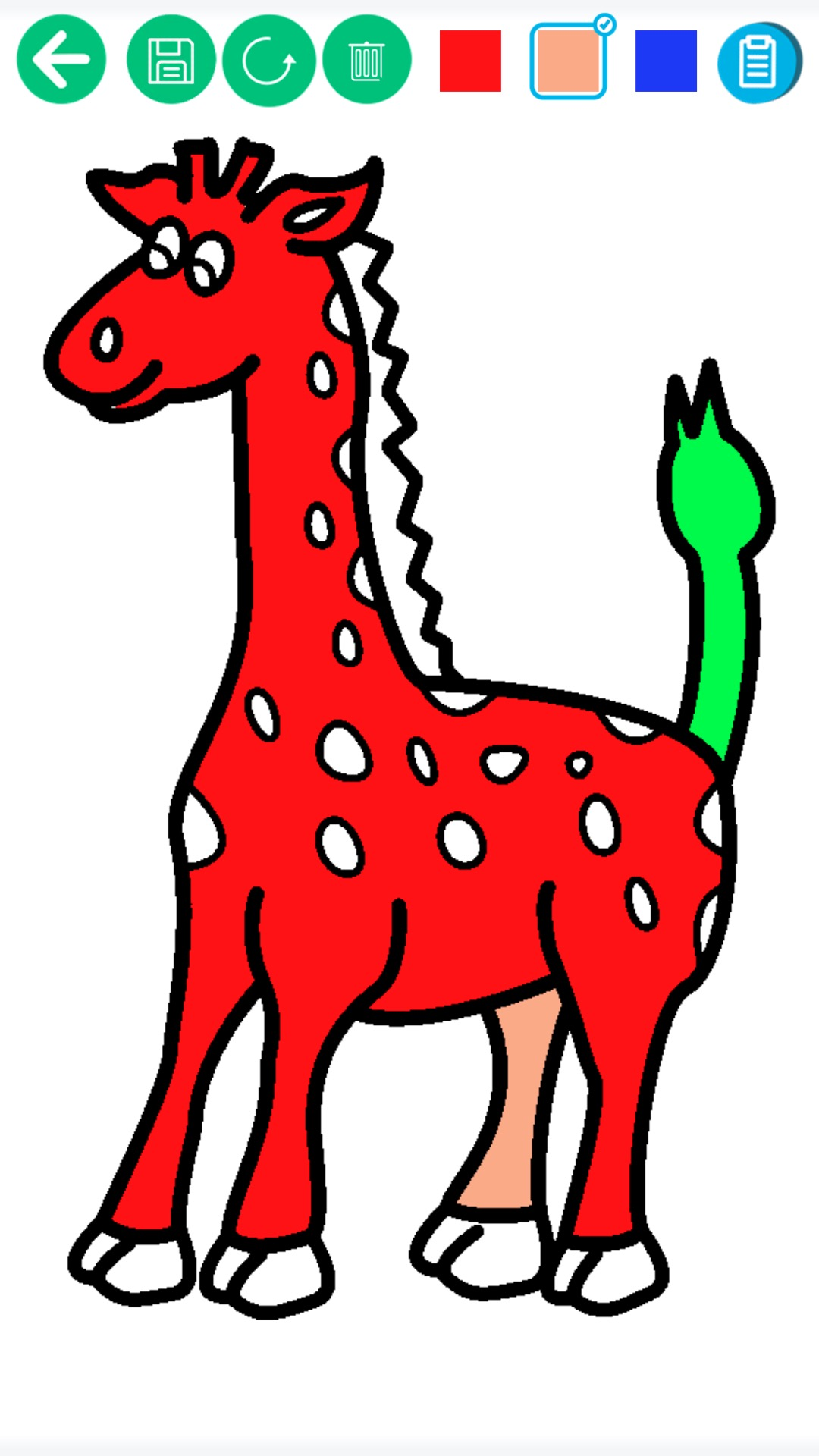 儿童动物填色画画下载