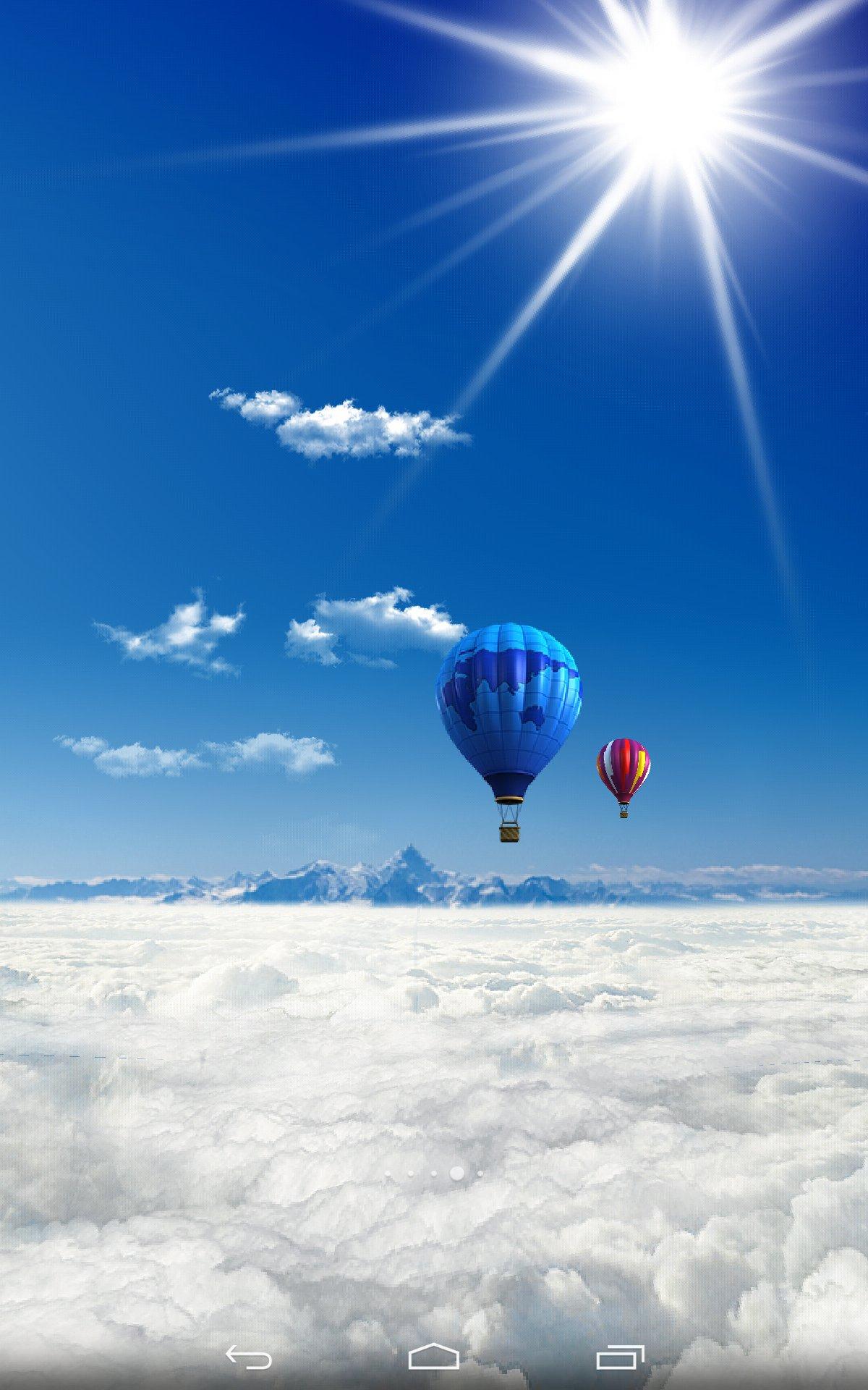 蓝色天空3d动态壁纸下载