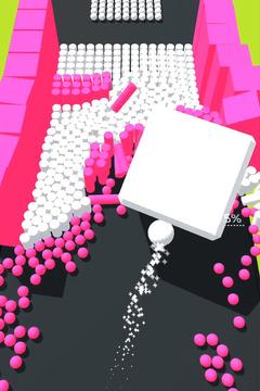 彩色躲避球球3D截图