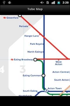 伦敦地铁轨道交通图