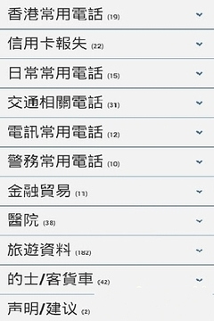 香港常用电话簿