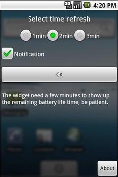电池剩余时间显示