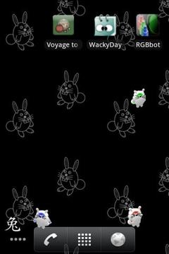 重力感应会跳的兔子动态壁纸