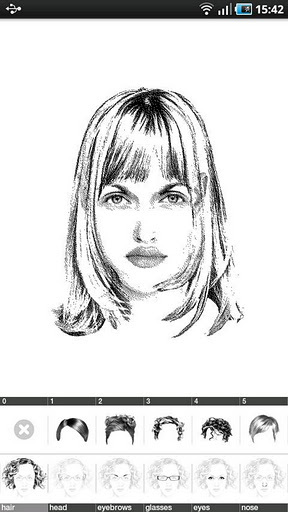 女版头像素描