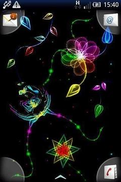 魔术对蝴蝶霓虹灯