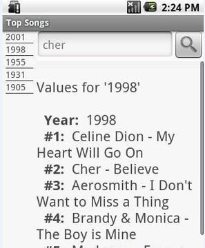 最佳5首歌