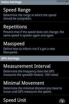 GPS速度谈话者