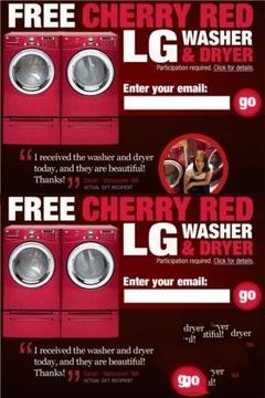 免费LG洗衣机和烘干机!
