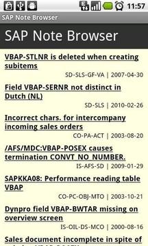 SAP Note浏览器