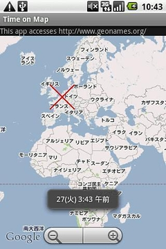 Time on Map