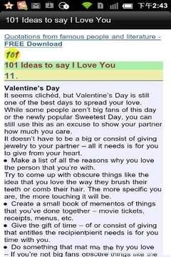 101 Ideas to say I Love You