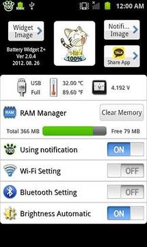 Battery Widget Z+