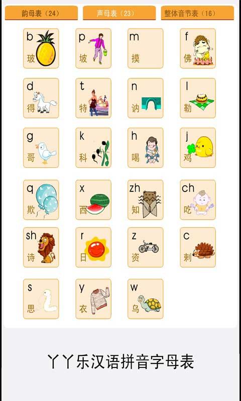 拼音字母表练习截图(3)