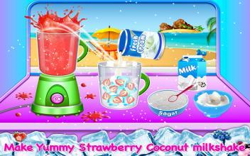 Coconut Milkshake Maker  Beach Party Cooking Game截图(2)