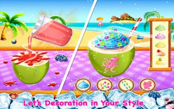 Coconut Milkshake Maker  Beach Party Cooking Game截图(1)