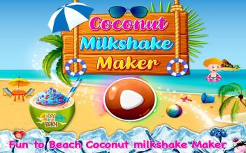 Coconut Milkshake Maker  Beach Party Cooking Game截图(4)