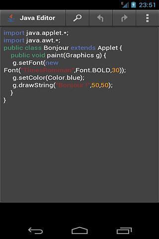 Java编辑器截图(1)