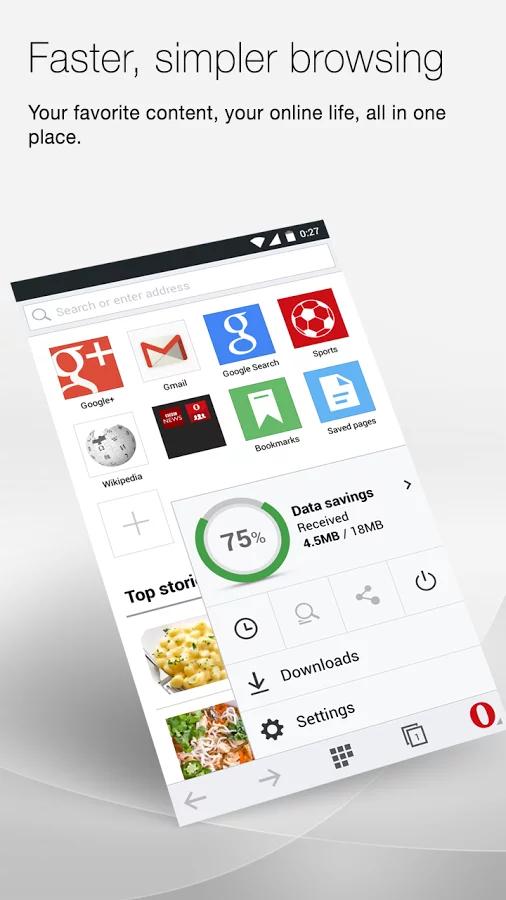 Opera Mini beta 浏览器截图(3)