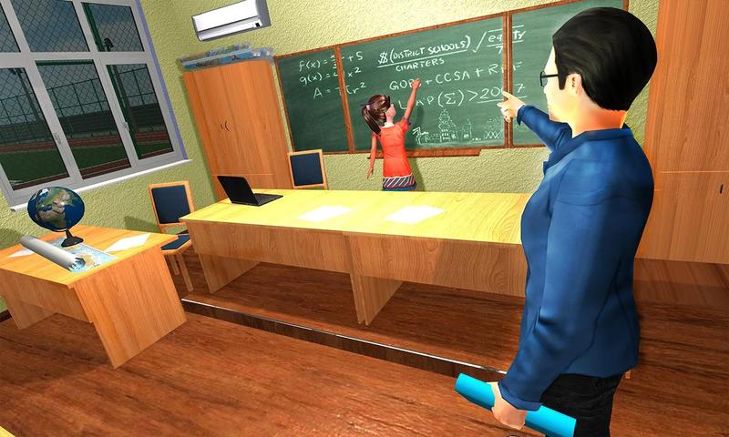 幼儿园模拟器:孩子们学习教育游戏截图(4)