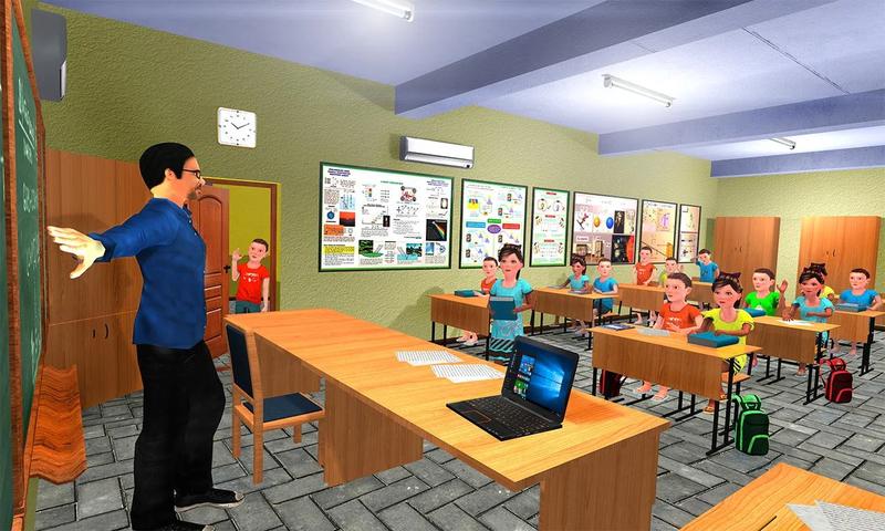 幼儿园模拟器:孩子们学习教育游戏截图(1)