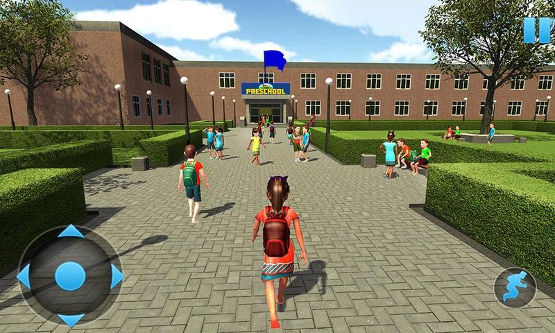幼儿园模拟器:孩子们学习教育游戏截图(2)
