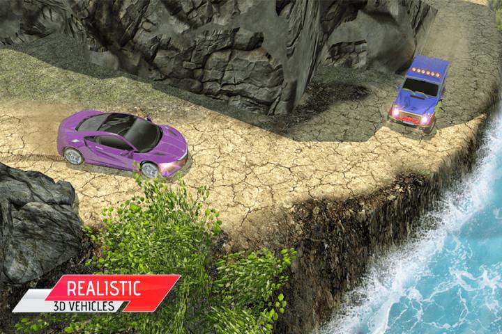越野汽车驾驶模拟器3D:爬坡赛车截图(1)