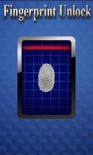 指纹解锁屏幕截图