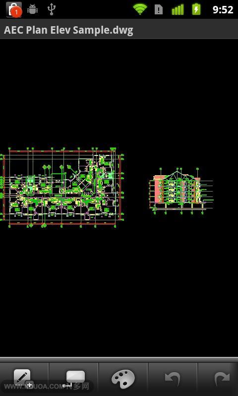 AutoCAD WS 绘图工具截图