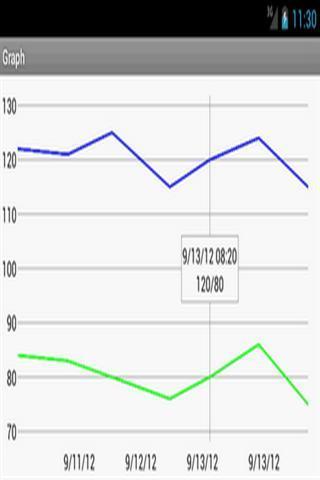 血压监测器截图