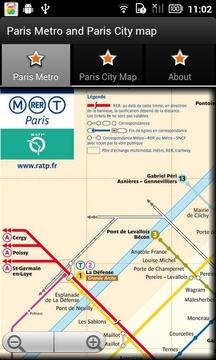 巴黎地铁和巴黎城市地图截图