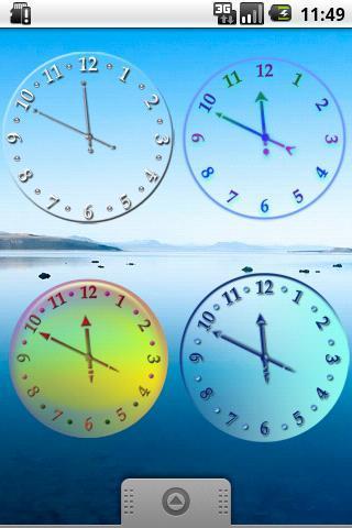 透明时钟挂件截图