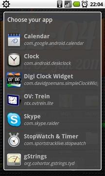 时钟插件 DigiClock Widget截图