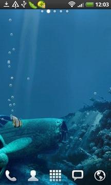 鲨鱼暗礁动态壁纸截图