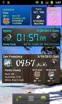 手机天气动态壁纸截图