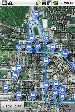 普渡大学巴士站定位仪-试用版截图