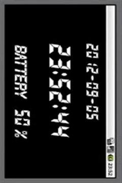 数字时钟和电池截图