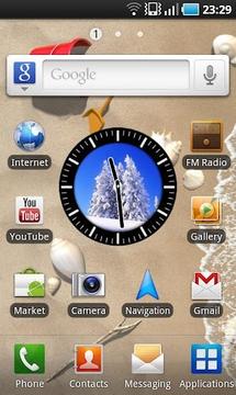 时钟小工具(冬季)截图